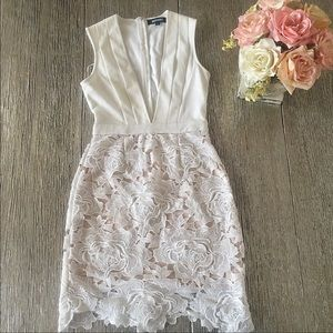 Missguided Rose Lace Dress